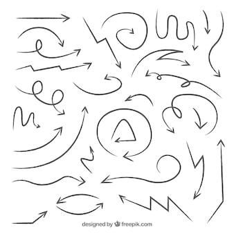 落書き矢印のコレクション