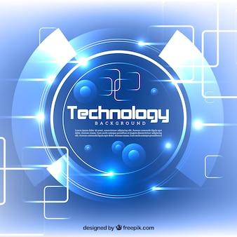 テクノロジー青い光沢のある背景