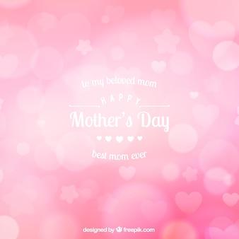 母の日のためのピンクのぼやけた背景