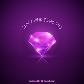 Блестящий алмаз фиолетовый фон