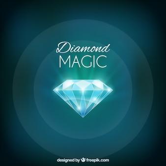 Яркий алмаз зеленый фон