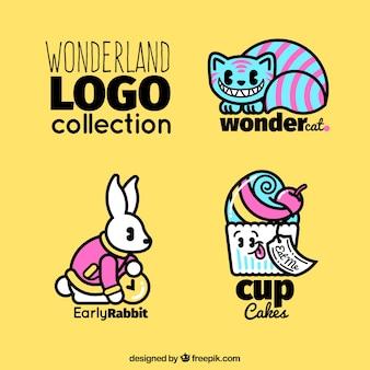 不思議の国のロゴのコレクション