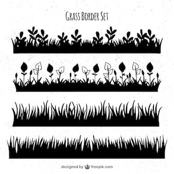 Ассортимент черных границ травы
