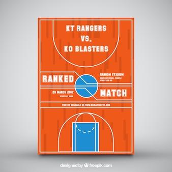 オレンジバスケットボールのチラシ