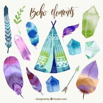 結晶と自由奔放に生きる水彩要素のパック
