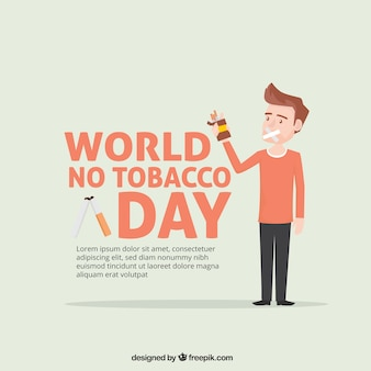 文字とアンチ喫煙日間の背景