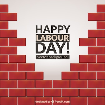 労働者の日のレンガの背景