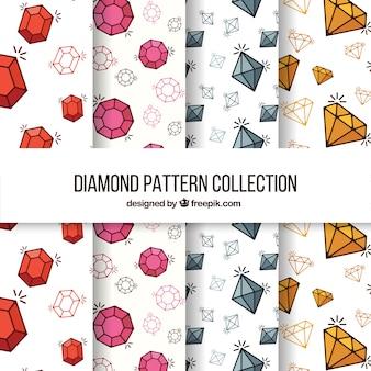フラットな宝石の素晴らしいパターン