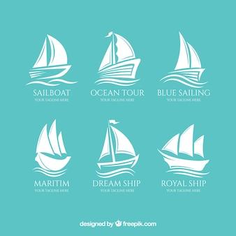 素晴らしいボートのロゴのコレクション