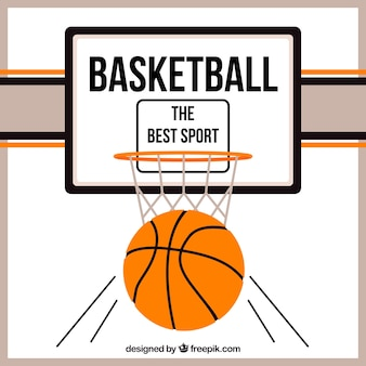 バスケットボールの背景デザイン