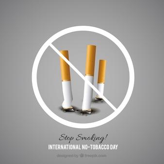 紙巻きタバコの背景