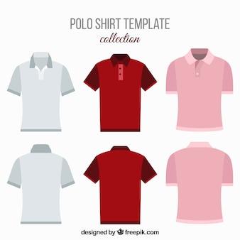男性用の様々なポロシャツ