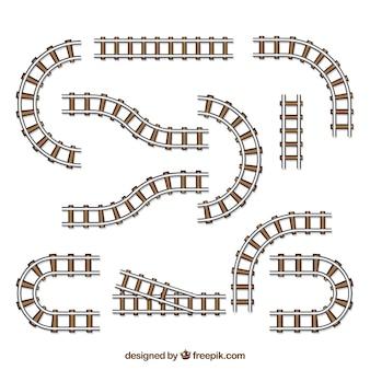 様々な形の鉄道トラックのパック