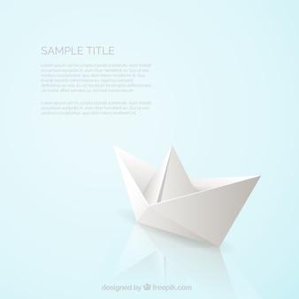Реалистичная бумага лодке фон