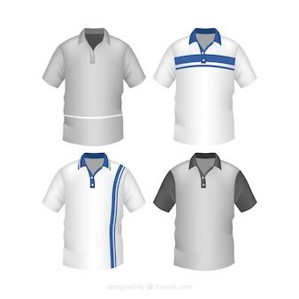 ストライプの男性用ポロシャツコレクション