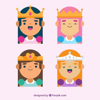 Четыре принцессы с коронами