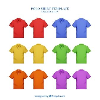 多色の男のポロシャツコレクション