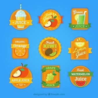 Пакет оранжевых этикеток с кусочками фруктов