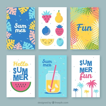 Ассортимент отличных летних открыток