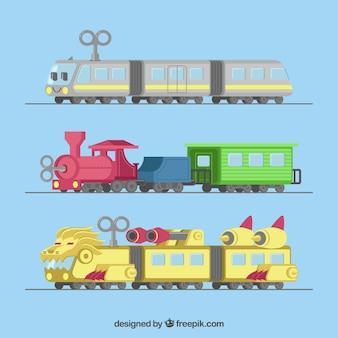 Игрушечные поезда с чудаками