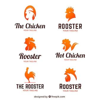 鶏のロゴのコレクション
