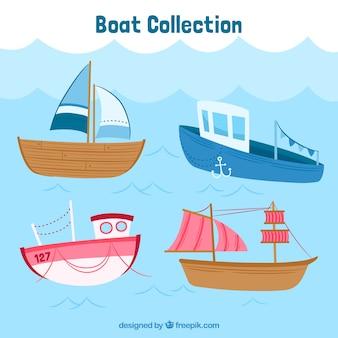 色豊かなボートの大きなパック