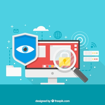 Фон элементов безопасности в интернете