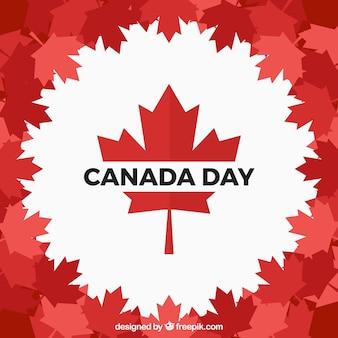 フラットデザインのカナダの日の背景