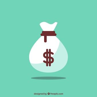 Зеленый фон деньги мешок