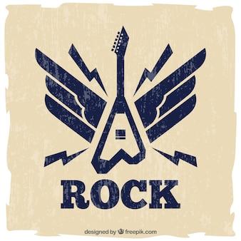 エレキギターのレトロ背景