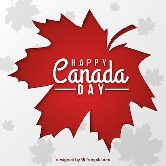 カナダの日の背景に赤い葉