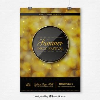 Летний вечерний золотой постер