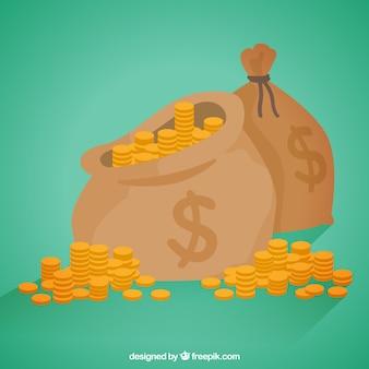 Фон денежного мешка