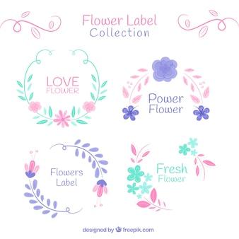 ヴィンテージ花のステッカーのコレクション