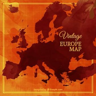 ビンテージヨーロッパ地図