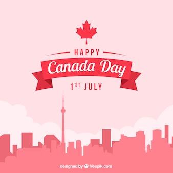 カナダの日の街並みの背景