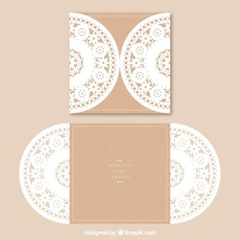 花の装飾カード