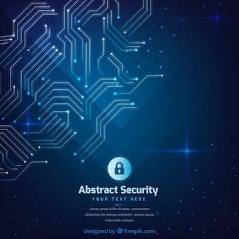 回路を持つ抽象的なセキュリティ背景