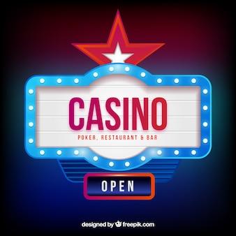 Светлый фон знака казино