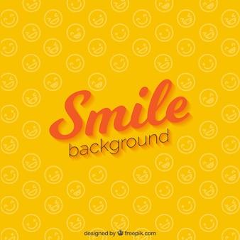 笑顔の黄色の背景