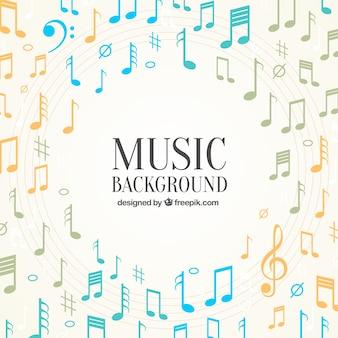 Элегантный фон музыкальных нот