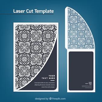 レーザーカットデコレーションのレトロカード