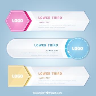 Пакет нижних третей в плоском дизайне