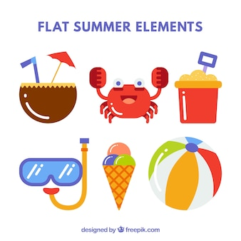 フラットな夏の要素