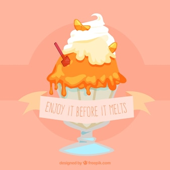 Фон чашки мороженого