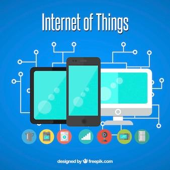 Фон устройств, подключенных к интернету