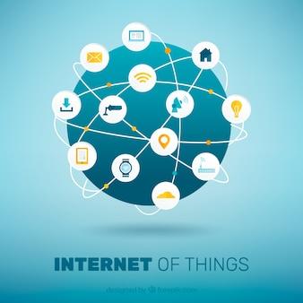世界の背景はインターネットに接続