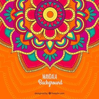 Фон мандалы с большими цветами