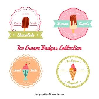 アイスクリームのステッカーのコレクション