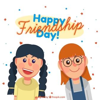 友人との幸せな友情の日の背景